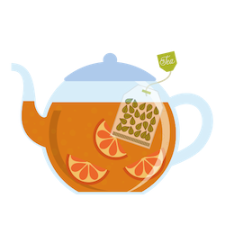 Hot brewed tea from around the world
