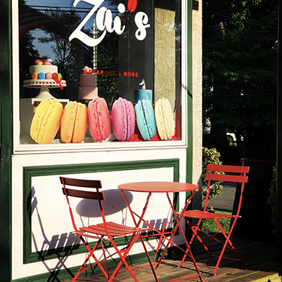 Sit and enjoy a macaron at the best bakery in NJ